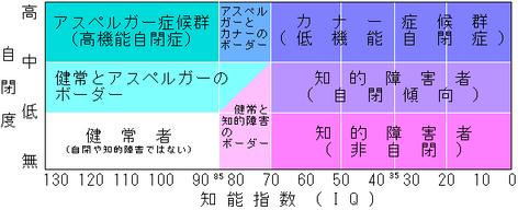 自閉症スペクトラムの図